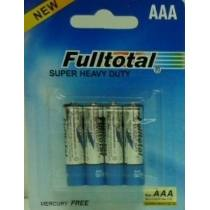 FULLTOTAL PACK X 4 PILAS CARBON SUPER HEAVY DUTY AAA